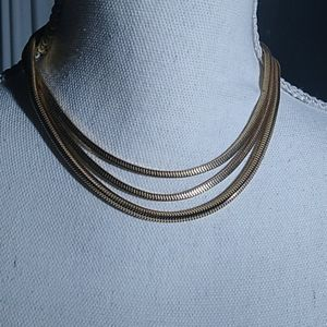 A Nice Three Strand Gold Necklace